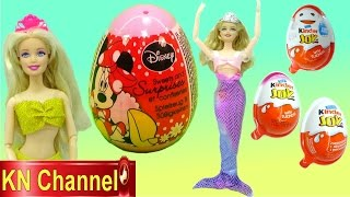 Đồ chơi trẻ em BÚP BÊ BARBIE TIÊN CÁ SĂN VÀ BÓC TRỨNG BẤT NGỜ Disney surprise egg BARBIE MERMAID