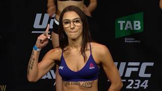 Montana De La Rosa vs. Nadia Kassem - Weigh-in Face-Off - (UFC 234) - /r/WMMA