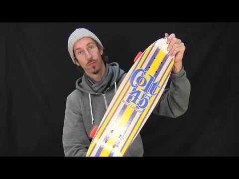 Video SANTA CRUZ Skate mini cruiser COLT 45 TALLBOY 24.3 Blanc/bleu