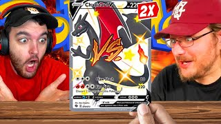 WE PULLED 2 SHINY CHARIZARDS!!! (INSANE POKEMON PACK BATTLE VS WILDCAT)