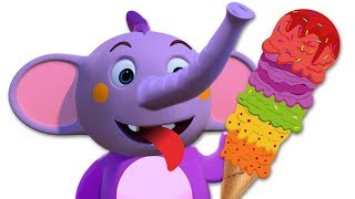 Learn Colors with Yummy Ice Cream Scoops   Educational Cartoons for Children   ABC Learning Club