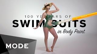 100 Years of Swimwear in Body Paint ★ Glam.com