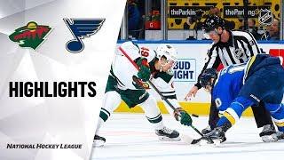 NHL Highlights   Wild @ Blues 10/30/19