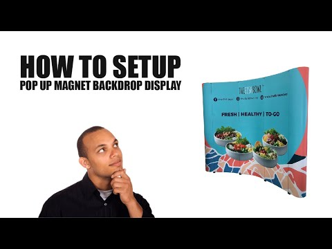 How to set up Pop Up wall backdrop display?