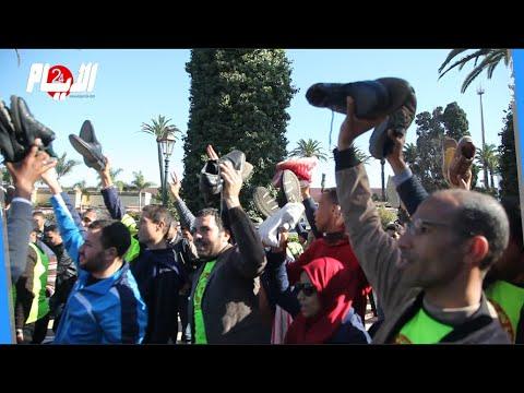 """""""الأساتذة حاملي الشهادات يهددون بالتصعيد في""""مسيرة الحفاة"""
