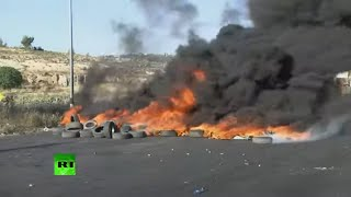 Clashes erupt in the West Bank over the ongoing Israel-Palestinian conflict