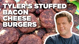 How to Make Tyler's Stuffed Bacon Cheeseburgers | Food Network