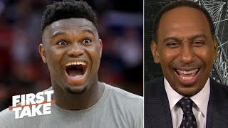 Stephen A. refuses to fall into the Zion hype: 'It's the preseason!'   First Take