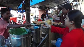 Crowd Enjoying South Indian Food (Dosa) | Kolkata Street Food