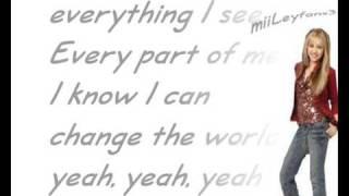 Hannah Montana - i got nerve [w/Lyrics] HQ