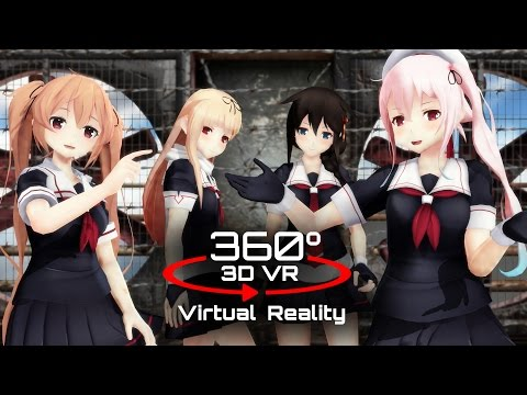 360 3D 4K | MMD Sweet Devil (colate remix) ?VR?