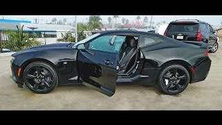 Blacked Out 2016 Camaro SS [Walk Around & Exhaust Note]