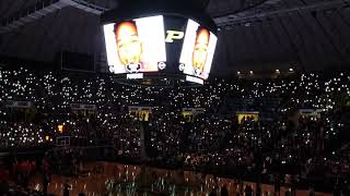 Purdue Basketball Light Show and Starting Lineup
