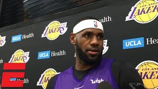LeBron James on Lakers vs. Raptors tape: 'We threw that in the trash' | NBA Sound