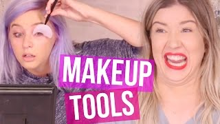 Trying Makeup Tools We Didn't Know Existed?!? (Beauty Break)