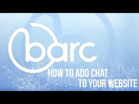 How to add Barc Chat to your Website
