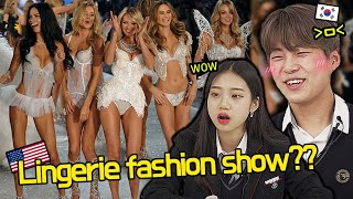 Korean Teenagers Watch Victoria's secret fashion show For The First Time!! 😳