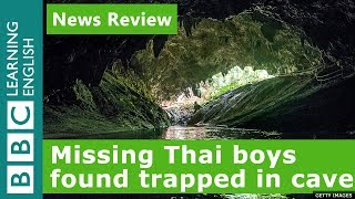 Missing Thai boys found in cave