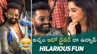 Actress Nabha Natesh Making Hilarious Fun With Ram and Puri Jagannadh   Manastars