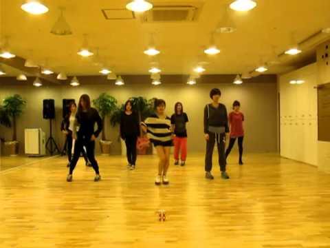 T-ara 練習室 排練LoveyDovey舞蹈影片
