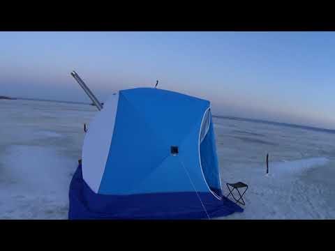 Зимняя рыбалка с ночёвкой в палатке СТЭК 3 куб