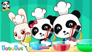 Baby Panda Makes Colorful Ice Cream   Mr. Dao's Dessert Truck   BabyBus Cartoon