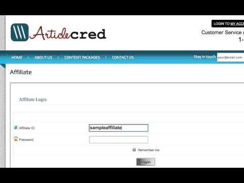 Make Money With Articlecred.com's Affiliate Program