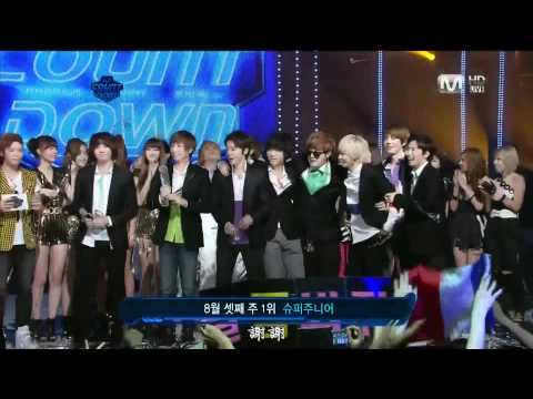HD 110818 Super Junior - Mr. Simple 第二周第三Winner @ M!Countdown [繁體字幕]