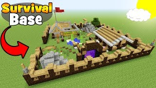 "Minecraft Tutorial: How To Make A Big Survival Base ""Survival Base"""