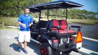 Custom Lifted Golf Cart- 6 Passenger Lifted Highriser From Moto Electric Vehicles