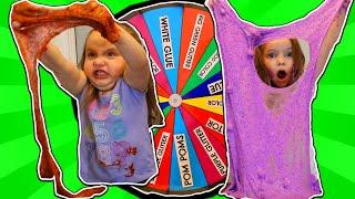 Mystery Wheel of SLIME Challenge! SIS vs SIS!😆😆