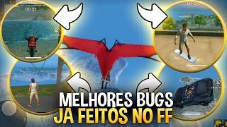VOCÊ SE LEMBRA ? 5 BUGS MAIS ÉPICOS DO FREE FIRE!! CARRO VOADOR AINDA FUNCIONA ?