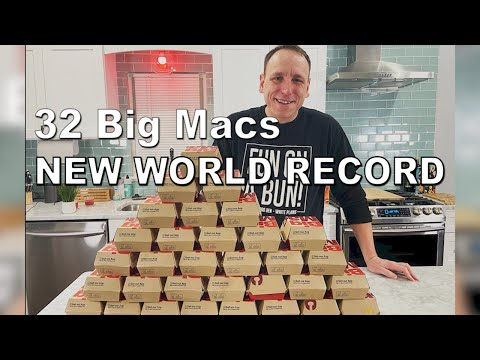 Most Big Macs Ever Eaten by One Person | Joey Chestnut Sets New World Record