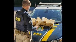 PRF prende traficante com 30 quilos de drogas escondidas na lataria do carro