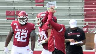 Arkansas Football Beanie Bowl Ends Preseason Camp - 8-24-19