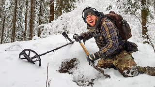 Deep snow Treasure Hunter rewarded with Finds of a Lifetime!!
