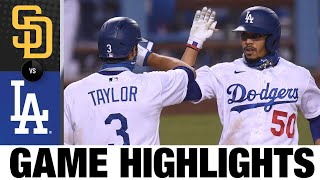 Mookie Betts hits 3 home runs in Dodgers' rout | Padres-Dodgers Game Highlights 8/13/2020