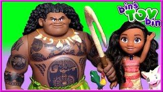 Disney Mega MAUI and Singing MOANA and Friends Movie Dolls Reviewed | Bin's Toy Bin