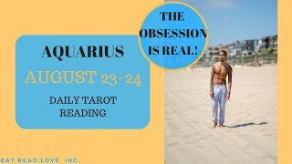 """AQUARIUS - """"SOMEONE IS OBSESSING OVER YOU SO BAD"""" AUGUST 23-24 DAILY TAROT READING"""