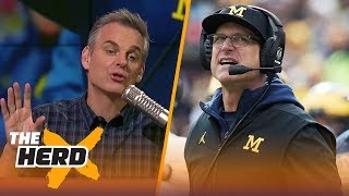 Colin Cowherd on rumors that Jim Harbaugh will sign a lifetime contract with Michigan | THE HERD