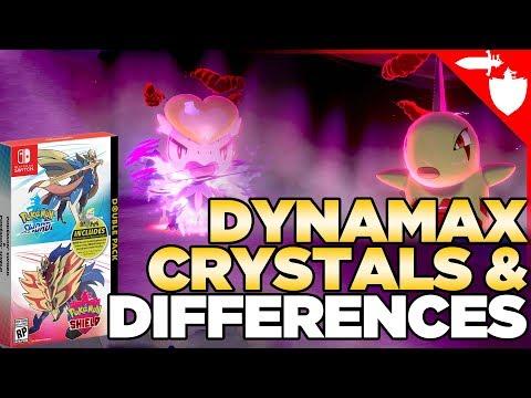 Dynamax Crystals, Version Exclusives, & Preorder Bonuses for Pokemon Sword & Shield