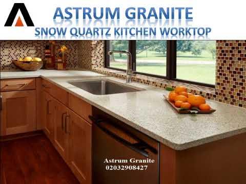 Get Snow Quartz Kitchen Worktop in London UK - Astrum Granite