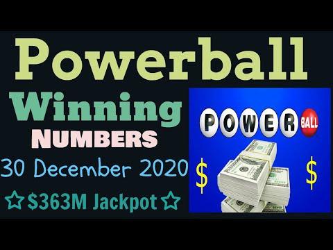 Today Powerball Winning Numbers Wednesday 30 December 2020. Powerball Drawing Tonight 12/30/2020