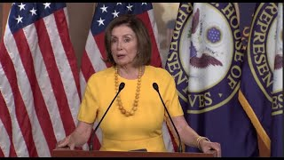 Pelosi holds her weekly news conference