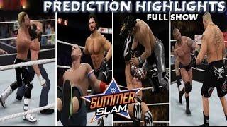 WWE 2K16 SUMMERSLAM 2016 FULL SHOW - PREDICTION HIGHLIGHTS