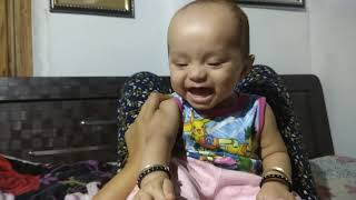 My cute baby laughing....