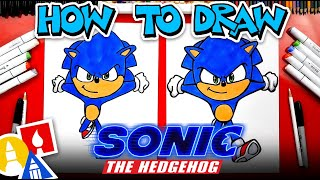 How To Draw Sonic From Sonic The Hedgehog Movie
