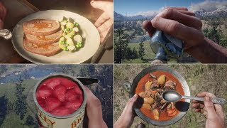 Red Dead Redemption 2 - All Food and Drinks