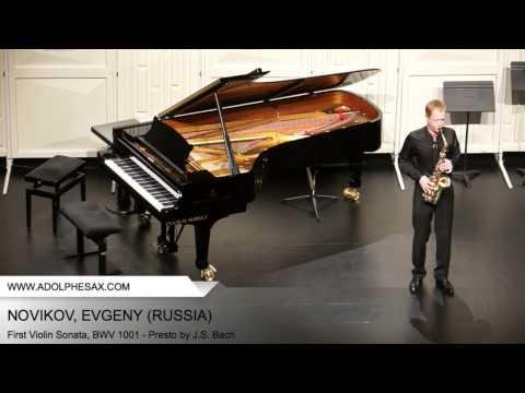 Dinant2014 NOVIKOV Evgeny First Violin Sonata, BWV 1001 Presto by J S Bach