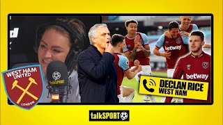 """""""WE WANTED TO PROVE MOURINHO WRONG!"""" Declan Rice on THAT celebration & West Ham's top four hopes"""